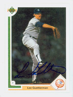 Lee Guetterman AUTOGRAPH 1991 Upper Deck Yankees 