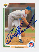 Bob Scanlan AUTOGRAPH 1991 Upper Deck Cubs 