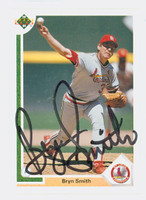 Bryn Smith AUTOGRAPH 1991 Upper Deck Cardinals 