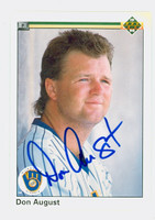 Don August AUTOGRAPH 1990 Upper Deck Brewers 