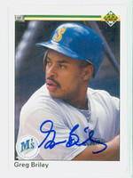 Greg Briley AUTOGRAPH 1990 Upper Deck Mariners 