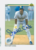 Darnell Coles AUTOGRAPH 1990 Upper Deck Mariners 