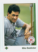 Mike Boddicker AUTOGRAPH 1989 Upper Deck Red Sox 