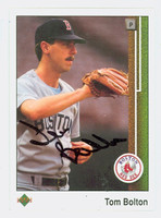 Tom Bolton AUTOGRAPH 1989 Upper Deck Red Sox 