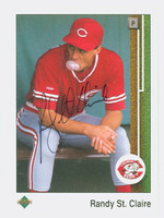 Randy St. Claire AUTOGRAPH 1989 Upper Deck Reds 