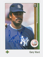 Gary Ward AUTOGRAPH 1989 Upper Deck Yankees 