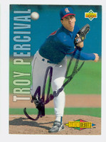 Troy Percival AUTOGRAPH 1993 Upper Deck Diamond Debuts Angels 