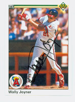 Wally Joyner AUTOGRAPH 1990 Upper Deck Angels 