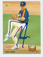 Todd Jones AUTOGRAPH 1993 Upper Deck Top Prospect Astros 