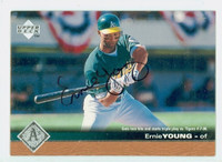 Ernie Young AUTOGRAPH 1997 Upper Deck Athletics 