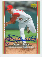 Joe Saunders AUTOGRAPH 2007 Upper Deck First Edition Angels 
