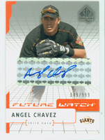 Angel Chavez AUTOGRAPH 2003 Upper Deck Future Watch Autograph Giants CERTIFIED 