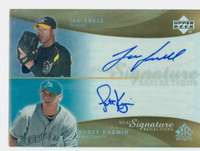 Scott Kazmir AUTOGRAPH 2005 Upper Deck Reflections Dual Signature w/Ian Snell  Pirates CERTIFIED 