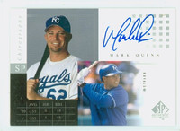 Mark Quinn AUTOGRAPH 2000 Upper Deck SP Authentic Chirography 1:23 Royals CERTIFIED 