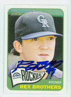 Rex Brothers AUTOGRAPH 2014 Topps Heritage 1965 Topps Design Rockies 