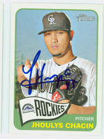 Jhoulys Chacin AUTOGRAPH 2014 Topps Heritage 1965 Topps Design Rockies 