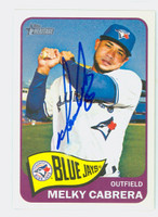 Melky Cabrera AUTOGRAPH 2014 Topps Heritage 1965 Topps Design Blue Jays 