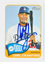 Carl Crawford AUTOGRAPH 2014 Topps Heritage 1965 Topps Design Dodgers 