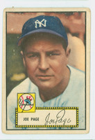 1952 Topps Baseball 48 b Joe Page COR BACK  New York Yankees Good Black Back