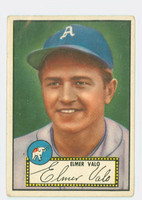 1952 Topps Baseball 34 Elmer Valo Philadelphia Athletics Good to Very Good Black Back