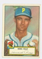 1952 Topps Baseball 63 Howie Pollet Pittsburgh Pirates Good to Very Good Black Back
