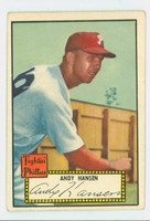 1952 Topps Baseball 74 Andy Hansen Philadelphia Phillies Good to Very Good Black Back
