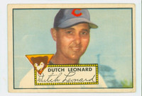 1952 Topps Baseball 110 Dutch Leonard Chicago Cubs Good to Very Good