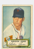 1952 Topps Baseball 130 Sheldon Jones New York Giants Good to Very Good