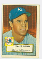 1952 Topps Baseball 215 Hank Bauer New York Yankees Good to Very Good