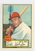 1952 Topps Baseball 47 Willie Jones Philadelphia Phillies Very Good Black Back