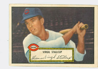 1952 Topps Baseball 69 Virgil Stallcup Cincinnati Reds Very Good Black Back