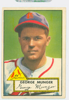 1952 Topps Baseball 115 George Munger St. Louis Cardinals Very Good