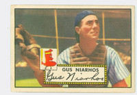 1952 Topps Baseball 121 Gus Niarhos Boston Red Sox Very Good