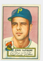 1952 Topps Baseball 166 Paul LaPalme Pittsburgh Pirates Very Good
