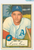 1952 Topps Baseball 21 Ferris Fain Philadelphia Athletics Very Good to Excellent Red Back