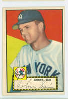 1952 Topps Baseball 49 b Johnny Sain COR BACK  New York Yankees Very Good to Excellent Black Back