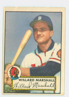 1952 Topps Baseball 96 Willard Marshall Boston Braves Very Good to Excellent