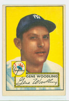 1952 Topps Baseball 99 Gene Woodling New York Yankees Very Good to Excellent