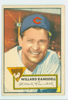 1952 Topps Baseball 114 Willard Ramsdell Chicago Cubs Very Good to Excellent