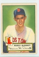 1952 Topps Baseball 119 Maurice McDermott Boston Red Sox Very Good to Excellent