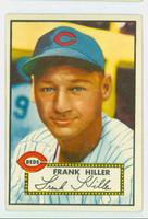 1952 Topps Baseball 156 Frank Hiller Cincinnati Reds Very Good to Excellent