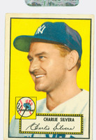 1952 Topps Baseball 168 Charlie Silvera New York Yankees Very Good to Excellent