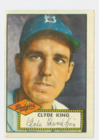 1952 Topps Baseball 205 Clyde King Brooklyn Dodgers Very Good to Excellent