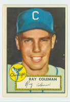 1952 Topps Baseball 211 Ray Coleman Chicago White Sox Very Good to Excellent
