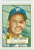 1952 Topps Baseball 245 Sherry Robertson Washington Senators Very Good to Excellent