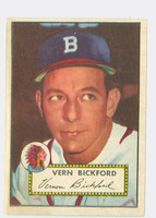 1952 Topps Baseball 252 Vern Bickford Boston Braves Very Good to Excellent