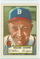 1952 Topps Baseball 294 Walker Cooper Boston Braves Very Good to Excellent