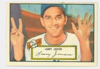 1952 Topps Baseball 5 Larry Jansen New York Giants Excellent Red Back