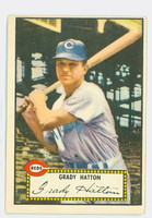1952 Topps Baseball 6 Grady Hatton Cincinnati Reds Excellent Red Back