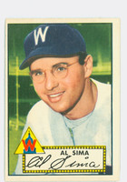 1952 Topps Baseball 93 Al Sima Washington Senators Excellent to Excellent Plus